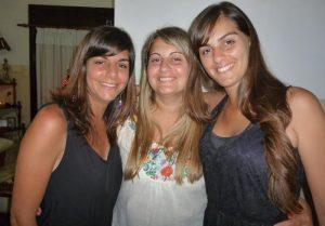 Luciana, Romina y Jimena Maldonado